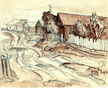 Деревня Яршево. 1971 г.