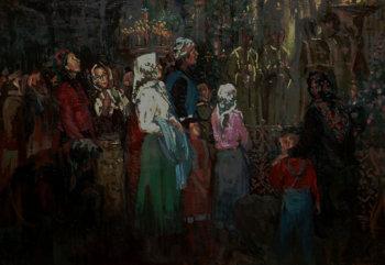 Девушки в Храме. 1992 г.