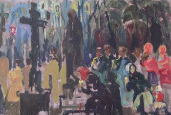 Крестный ход на кладбище в Донском. 1991 г.