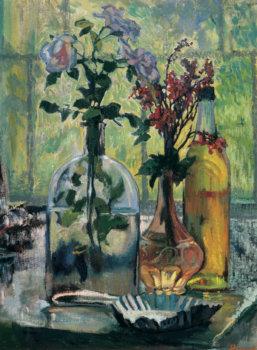 Натюрморт с цветком чайной розы. 1991 г.
