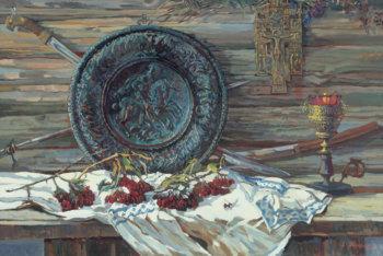 Натюрморт с калиной. 1995 г.