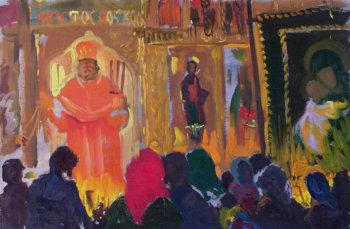 Вешняки. Христос воскресе. 1995 г.